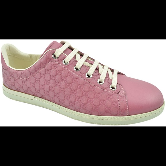 ff3578daf1f5 Gucci Shoes - Gucci Pink Leather Miro Soft sneakers